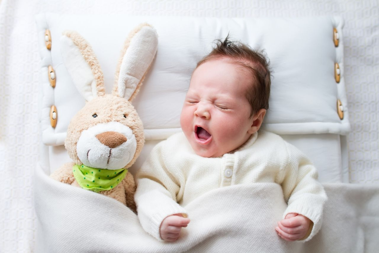 Baby with bunny