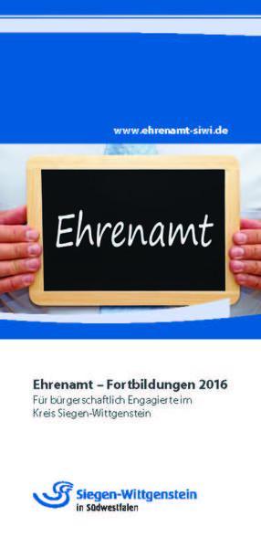 Flyer Ehrenamtfortbildungen 2016