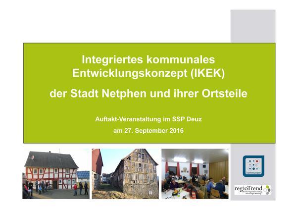 Präsentation IKEK - Auftaktveranstaltung