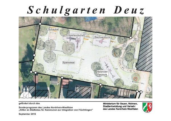 Schulgarten-Schild