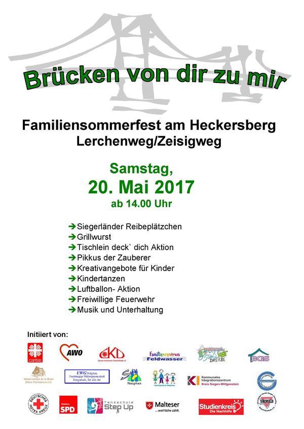 Plakat Stadtteilfest 2017