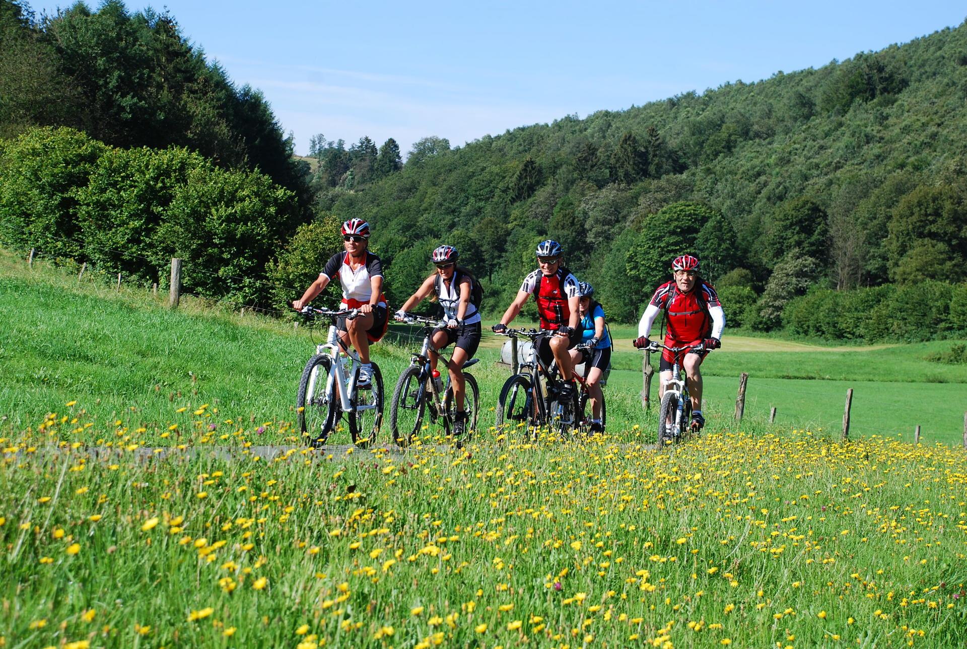 Hintergrundfoto Radfahren